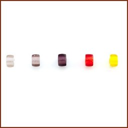 COLORED GLASS ROLLER BEAD SET 2