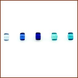 COLORED GLASS ROLLER BEAD SET 4