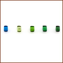 COLORED GLASS ROLLER BEAD SET 5