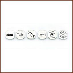 WEEK DAY THEME PUSH PINS
