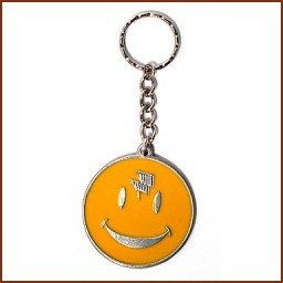 "2"" DIA PEWTER KEY CHAIN W/COLOR FILL"
