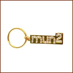 GOLD PLATED KEY CHAIN WITH CRYSTALS
