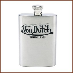 4 OZ. FLASK WITH PEWTER EMBLEM