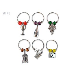 WINE GLASS CHARMS WINE THEME