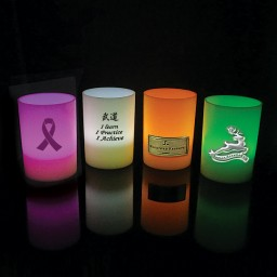 LED Votive Candle w/Emblem